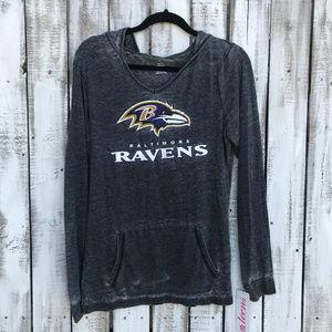Baltimore Ravens Juniors Graphic hooded long slv